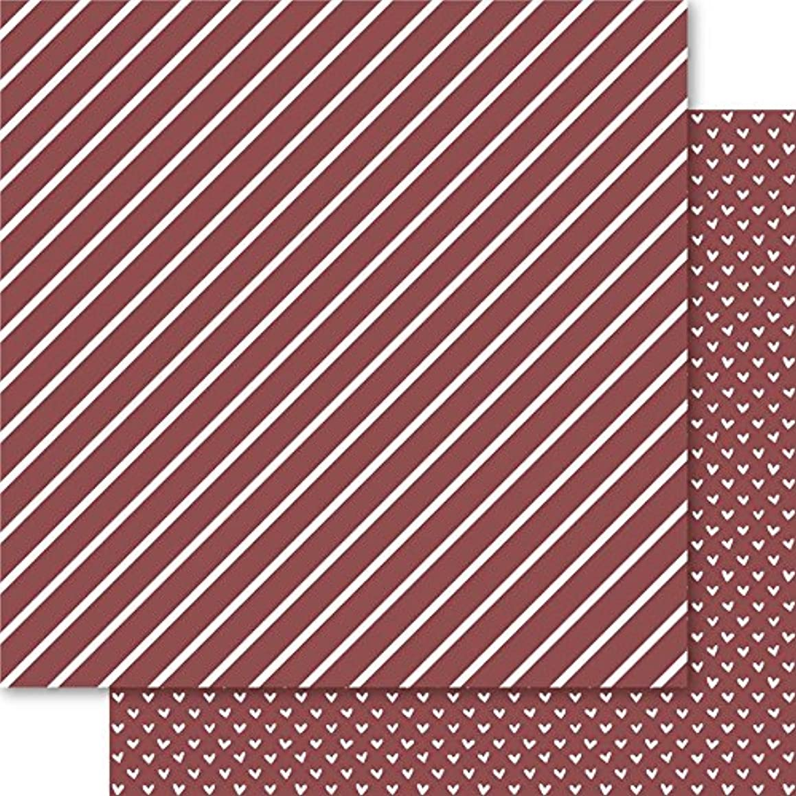 Ruby Rock-It Bella Hearts & Stripes Foiled Cardstock 12