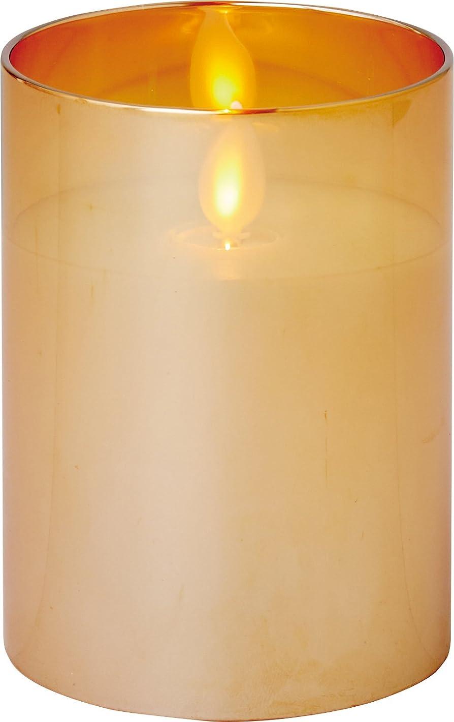 物思いにふける平等器官illumine イルミネシャイングラス入りLEDキャンドルS ゴールド