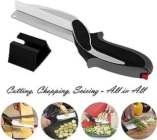 GingkoTree Cortador de Clever 2-en-1 - Picador de alimentos - Reemplazar Cuchillos de Cocina y tijeras Tablas de cortar, Baby Food Supplement