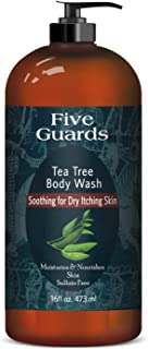 Sponsored Ad - FIVE GUARDS Tea Tree Oil Body Wash W/Mint Removes Body Odor, Athlete's Foot, Jock Itch, Skin Irritations Bo...