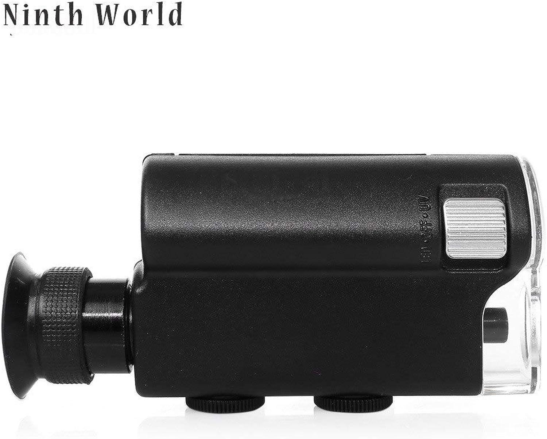 Ninth World Mini Portable Microscope Pocket 140X240X Handheld LED Light Loupe Pocket Lens