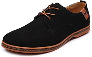 Qlv House Men's Classic Microfibre Leather Oxford Shoes Lace up