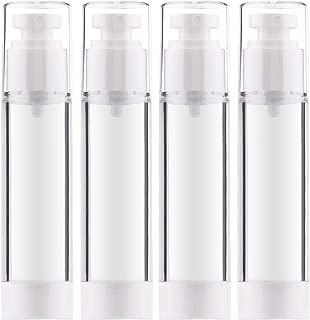 Airless Pump Bottles, Yebeauty Empty Airless Bottle Pump Bottle airless travel bottle - 3.4 Ounce ,4 Pack