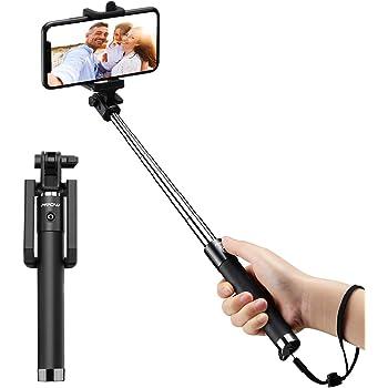 Mpow Perche Selfie Bluetooth, Ultra-Léger Mini Selfie Stick Monopode  Extensiblede 31, 9 pouces avec Télécommande Bluetooth pour iPhone 11/11Pro Max/XS Max/X/ 8/ 7/ Plus/ 6, Galaxy S10/ S9/S8, etc