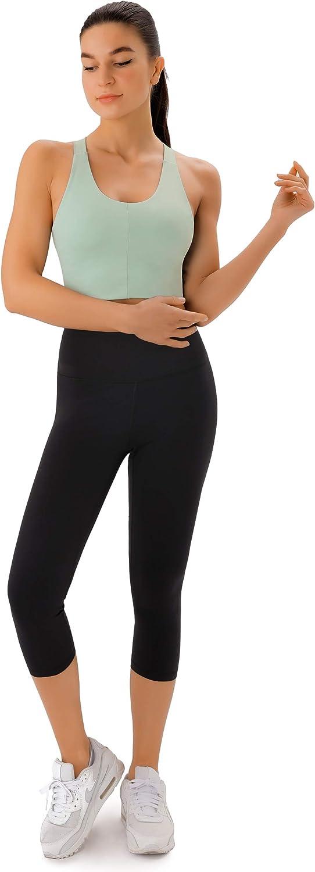 Sports Bras for Women Criss-Cross Back Padded Workout Tank Tops Medium Support Crop Tops for Women