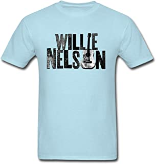 Fashion Willie Nelson Guitar Poster T Shirts For Men