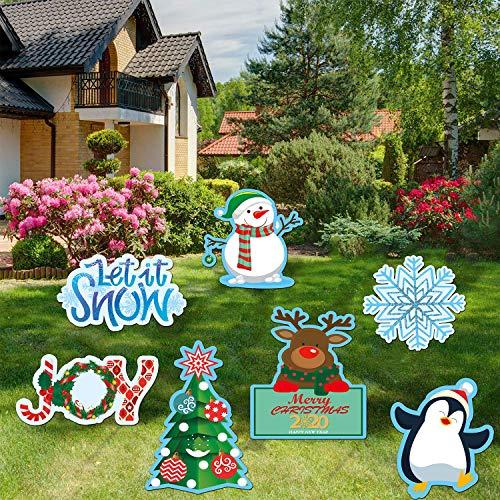 JoyTplay Tuindecoratie voor Kerstmis, kerst, sneeuwval, tuindecoratie, voor buiten en binnen, feestjes, kerstmis en feestdag