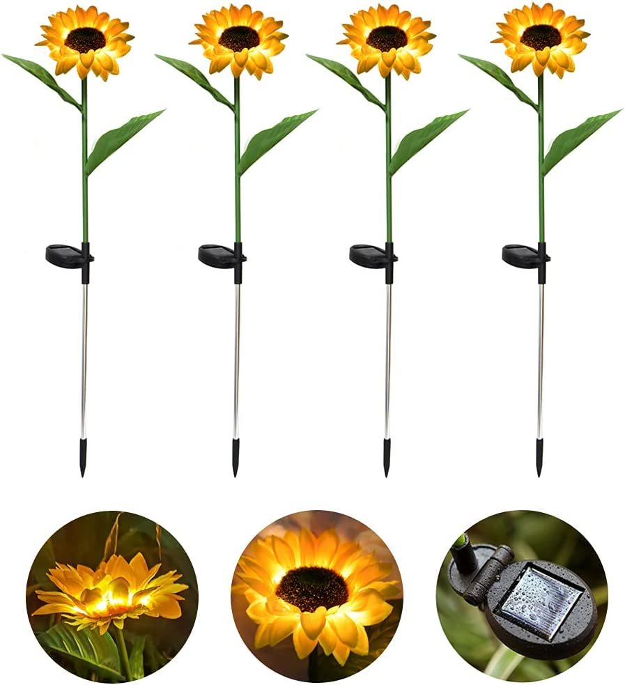 Outdoor Solar Sunflower Lights Decorative LED Free Shipping New Max 70% OFF Sta Garden