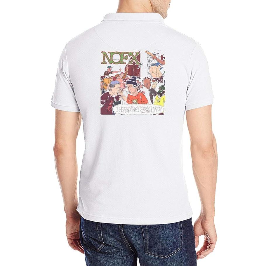 保持するアイザック読みやすさNOFX Punk Rock Band メンズ ポロシャツ クラシックフィット吸汗速乾 Tシャツ ストレッチ 半袖 Poloシャツスポーツ ゴルフ ゴルフウェア 春 夏 シャツ Polo Shirts