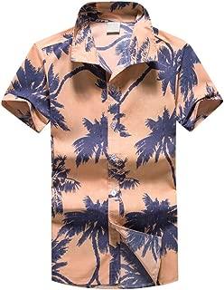 OSTELY Shirts for Men, Hawaiian Print Short T-Shirt Sports Beach Quick Dry Blouse Top Blouse