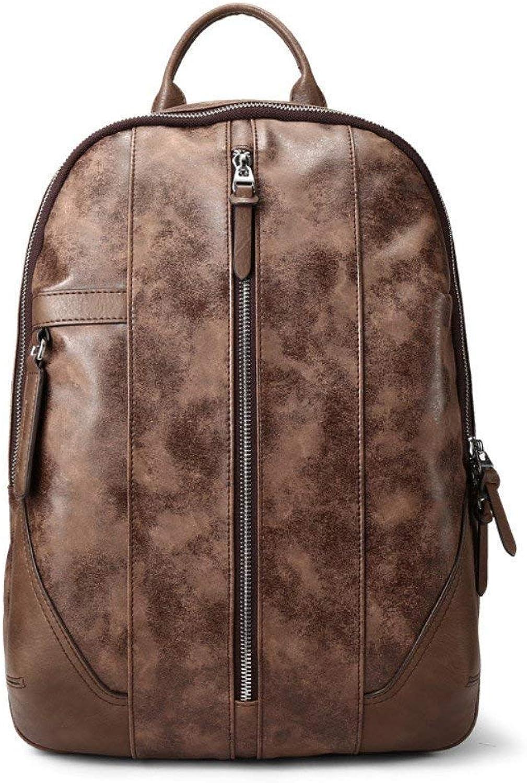 Willsego Shoulder Bag Leisure Student Computer Bag Schoolboy Youth Travel Backpack, 29.5X15X40Cm,Brown (color   Brown)