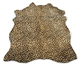 Zerimar Alfombra Piel de Vaca Natural Teñida Leopardo   Medidas: 215x155 cm   Alfombra Salón   Alfombra Decoracion   Alfombra Dormitorio   Alfombra Natural