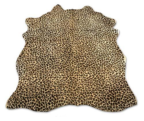 Zerimar Alfombra Piel de Vaca Natural Teñida Leopardo | Medidas: 215x155 cm | Alfombra Salón | Alfombra Decoracion | Alfombra Dormitorio | Alfombra Natural