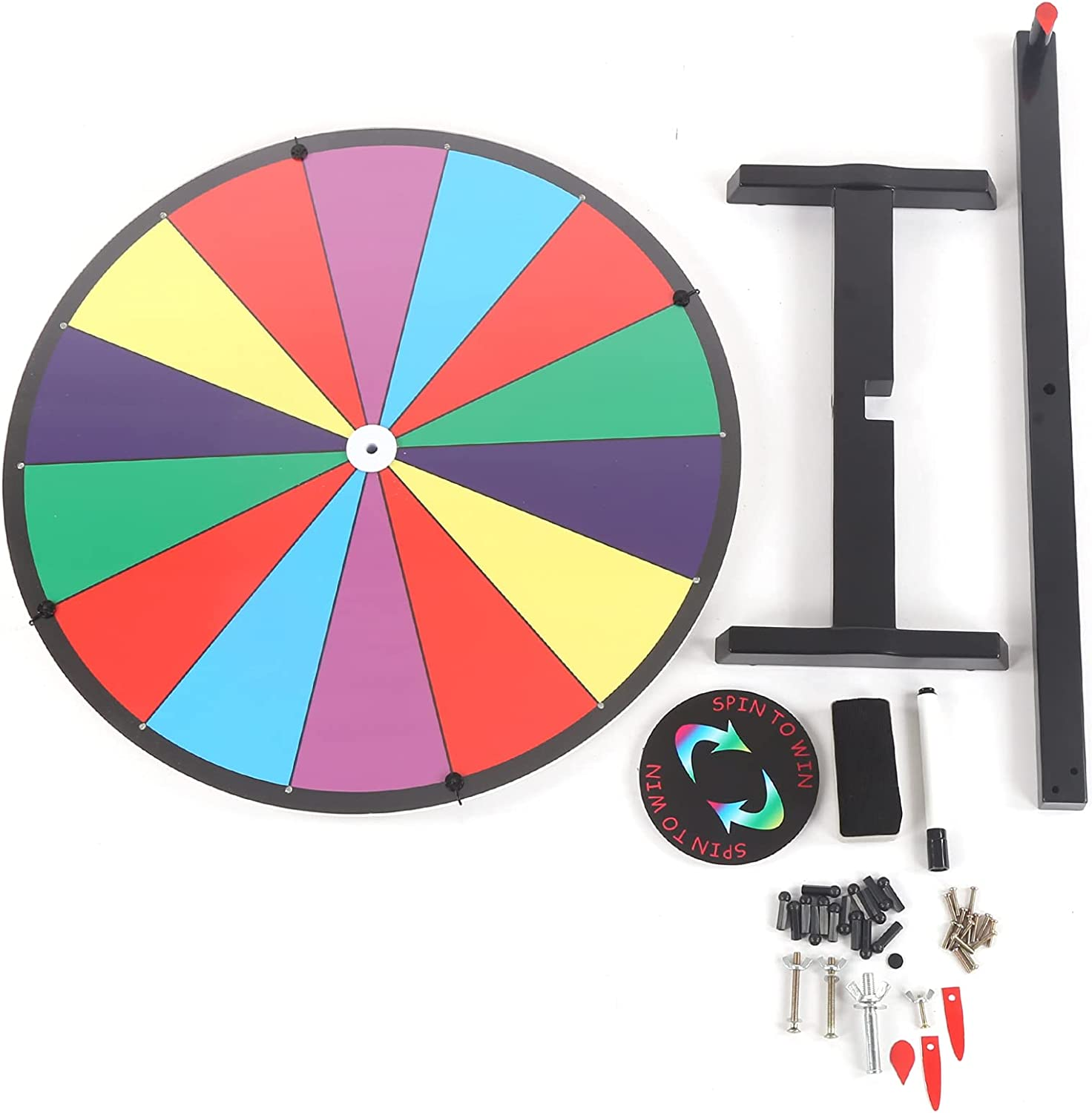 free shipping QYSZYG Tabletop Spinning Wheel 24in Colorful Slots Jacksonville Mall Whee