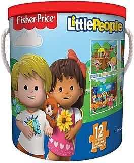 TCG Toys Fisher Price - Puzzles para niños (12 en 1)