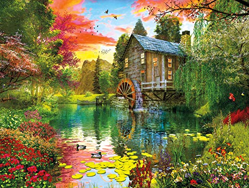 Buffalo Games - Reflections - Sunset at The Mill - 750 Piece Jigsaw Puzzle
