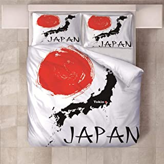 JKCloth Bettwäsche Set, Japan, 1 x Bettbezug 140 x 200 cm,
