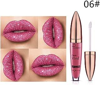 Glitter Lips Liquid Lipstick Lot Women Makeup Waterproof Blue Purple Wine Red Color Pudaier Shimmer Lip Gloss 06