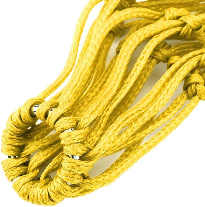 Yosooo Slow Feed Hay Net Bag, Horse Feeding Bag Nylon Slow Feeder Equine Hay Net Feeding Bag with Hanging Buckle Rings Yellow