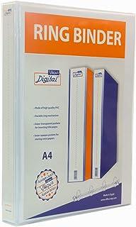 Digital A4 Ring Binder, 2 Ring D-Shaped, 4 cm - White
