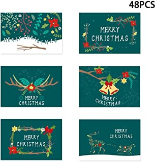 Heilsa 48 PCS Christmas Greeting Card Thank You Cards with Envelopes