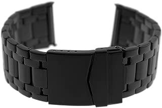 Black Steel Bracelet Band for Evo Seal 23mm Luminox Watches