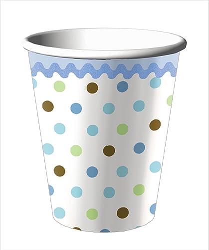 Tickle bleu   9 Oz Cups - 8 Pkg by modecraft