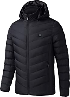 Electric Heated Man Jacket Vest Waistcoat Woman Coat Feather Thermal Softshell Jacket Winter Heating Clothes(black)