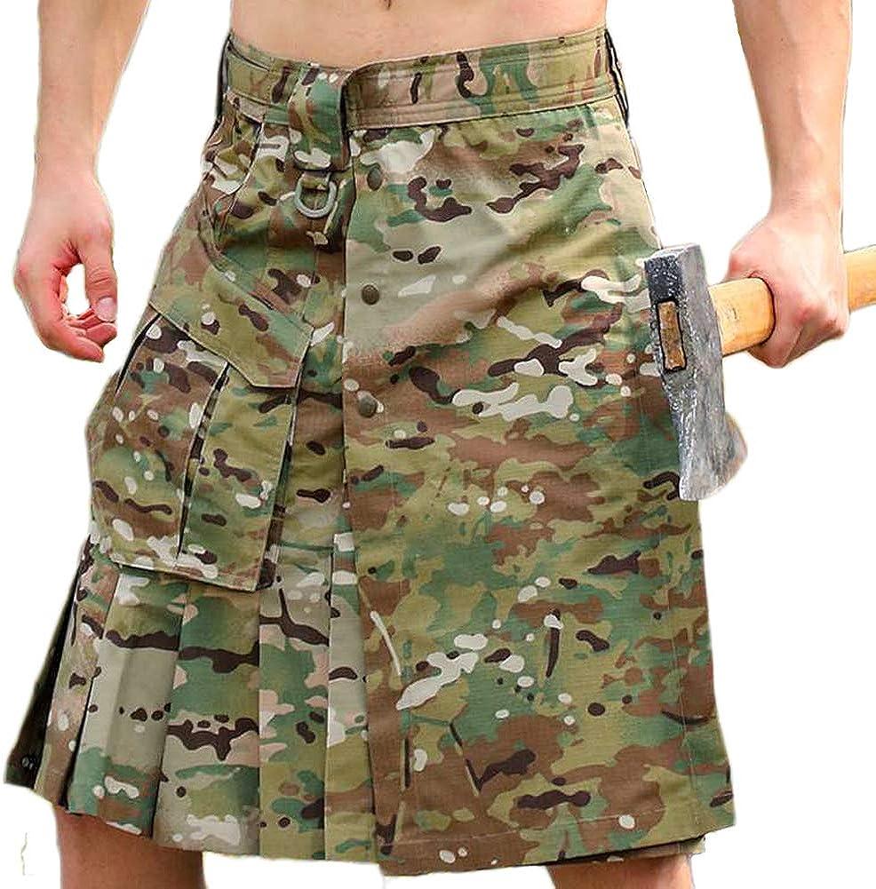 CyberDyer Scottish Camouflage 流行 Utility Uti SALENEW大人気! Men's Kilt Traditional