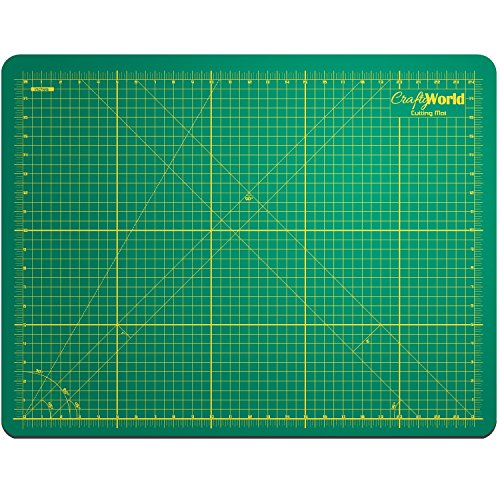 Crafty World Professional Self-Healing Double Sided Rotary Cutting Mat - Long Lasting Thick Non-Slip 18
