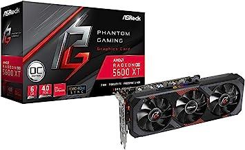 ASRock AMD Radeon RX5600XT Graphics Board GDDR6 6GB Phamtom Gaming Series RX 5600XT PG D3 6G OC