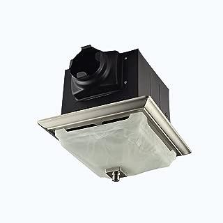 Lift Bridge Kitchen & Bath DSQR110BN Exhaust Bath Fan, Brushed Nickel