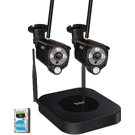 Cam/éra WiFi avec Panneau Solaire TMEZON 100/% sans Fil Full HD 1080P S/écurit/é Ext/érieure Cam/éra IP Batterie Rechargeable,Audio bidirectionnel,Vision Nocturne,Kit de 2 cam/éra de Surveillance PIR Motion