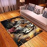 XuJinzisa Animal Wolf Print Teppich Super Soft Rutschfester 3D-Druck Kinderzimmer Spielzelt Wohnzimmer Teppich Home Decoration 180X260Cm H22396