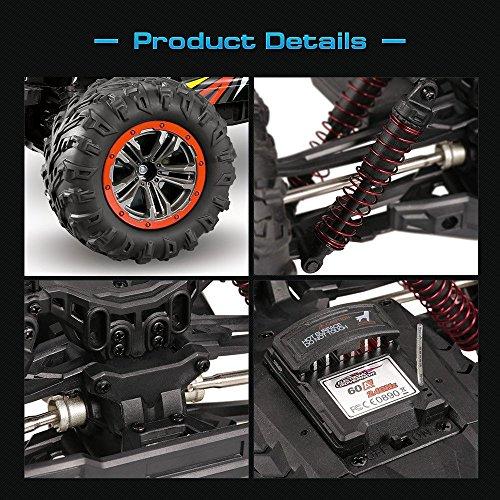 RC Auto kaufen Monstertruck Bild 2: s-idee® 18173 9125 RC Auto 1:10 4WD Buggy wasserdichter Monstertruck mit 2,4 GHz ca. 50 kmh schnell, Zwei Motoren, wendig, voll proportional 4WD ferngesteuertes Buggy Racing Auto*
