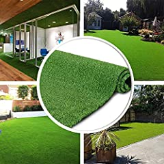 Premium Quality Material: Goasis Lawn is a gorgeous, multi-purpose and very durable superior quality artificial grass/turf brand, made of the highest quality poly polypropylene yarns, resistant synthetic material high temperature.Rubber backed with d...