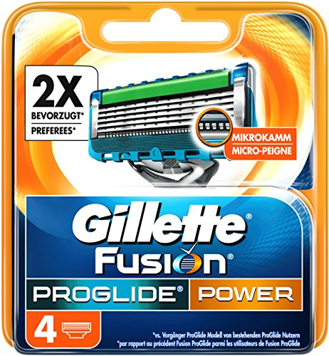 Auslaufmodell Gillette Fusion ProGlide Power Rasierklingen, 4 Stück