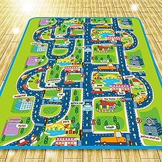 comprar comparacion Alfombra infantil de 0,5cm, imagen de ciudad y tráfico, alfombra en relieve para que jueguen los niños, 200x 160cm