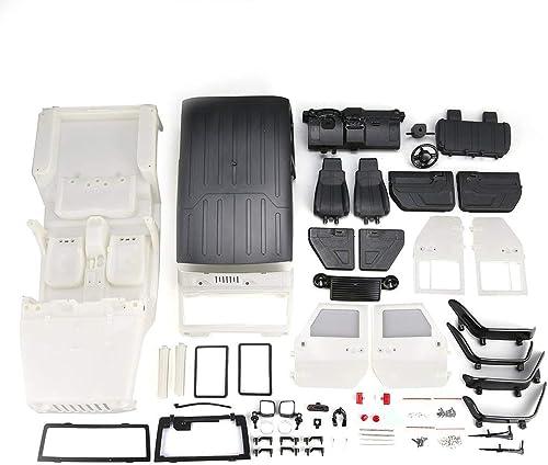 promocionales de incentivo Heaviesk Heaviesk Heaviesk Kit de Bricolaje de Cuerpo de Carcasa de plástico Duro sin ensamblar para 313 mm Distancia Entre Ejes 1 10 Wrangler Jeep Axial SCX10 RC Vehículo sobre orugas  entrega de rayos
