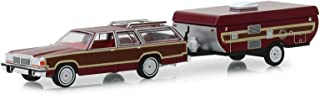 Greenlight 1/64 Hitch & Tow Series 16-1981 Ford LTD Country Squire and Pop-Up Camper Trailer Diecast Model Car 32160C
