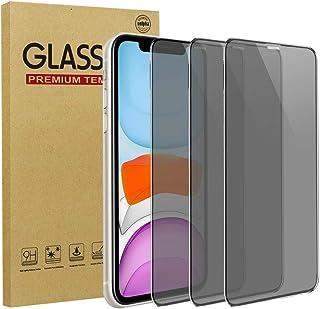 [3 Stuks] LCHDA voor iPhone 12 Pro Max 6,7 Inch Privacy Beschermfolie van Gehard Glas Anti-Gluren Volledige Dekking Screen...