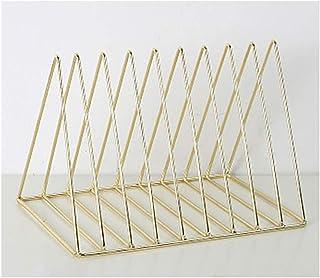 Estante de hierro de almacenamiento de registro de LP, triángulo del metal estante Periódico Magazine Rack, Escritorio del archivo de almacenamiento estante de exhibición de archivo de escritorio Orga