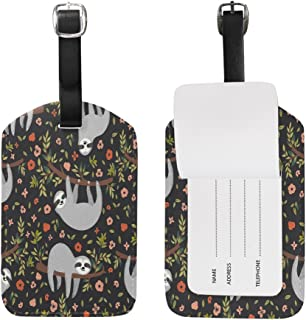 Floral Print Cute Animal Luggage Tags Travel ID Bag Tag for Suitcase 1 Piece