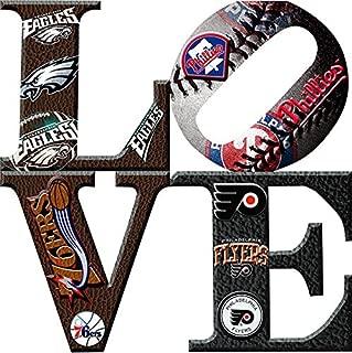 Philadelphia Sports LOVE 2 Canvas Art (12X12)