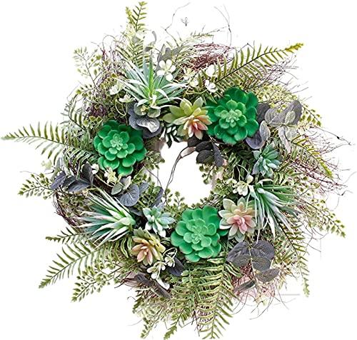 Ornamento de la Navidad de la guirnalda,Guirnalda 56cm Guirnalda suculenta artificial para colgar Home Garden Dorada de la puerta de la puerta de la Navidad Decoración de la boda