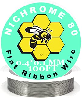 Genuine Kbee's Nichrome 80 Series 0.4 x 0.1 Flat Ribbon Wire - 100ft