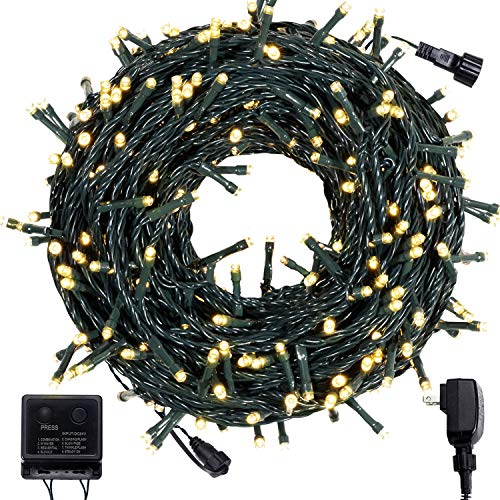 COSFLY Outdoor Christmas String Lights 105 ft 300 LEDs,UL Certificated Fairy Twinkle Christmas Tree Lights with 8 Modes for for Indoor or Outdoor Garden Halloween Party Wedding Decoration(Warm White)