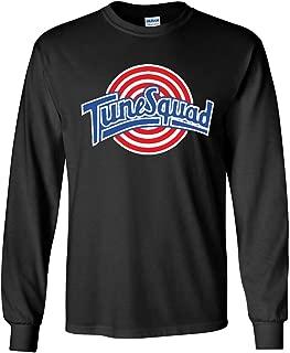 Long Sleeve Black Space Jam Tunesquad Lola Bunny Front & Back T-Shirt
