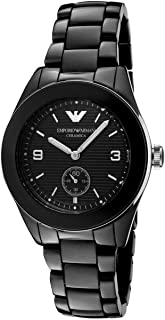 Emporio Armani Womens Quartz Watch, Chronograph Display and Ceramic Strap AR1422