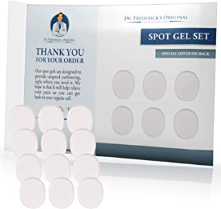 Dr. Frederick's Original Spot Gel Blister Pads - 12 Pieces - Relieve Pain from Calluses, Bunions, Corns, Ill-Fitting Shoes - Adhesive Gel Pads to Protect Your Feet